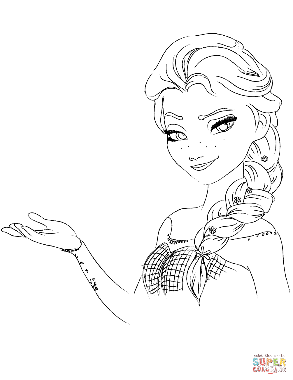 Coloring Pages Frozen Games : Elsa from the frozen coloring pages