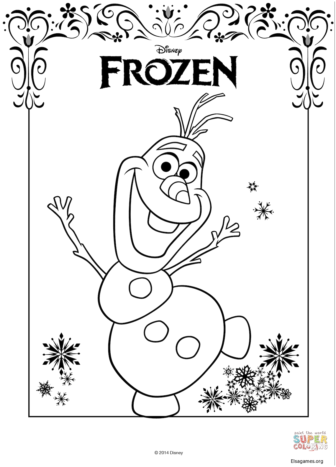 Olaf From Frozen From The Frozen