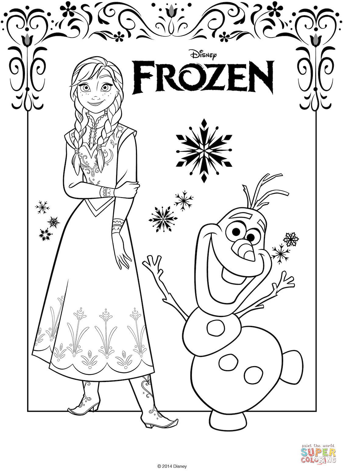 Anna And Olaf From The Frozen